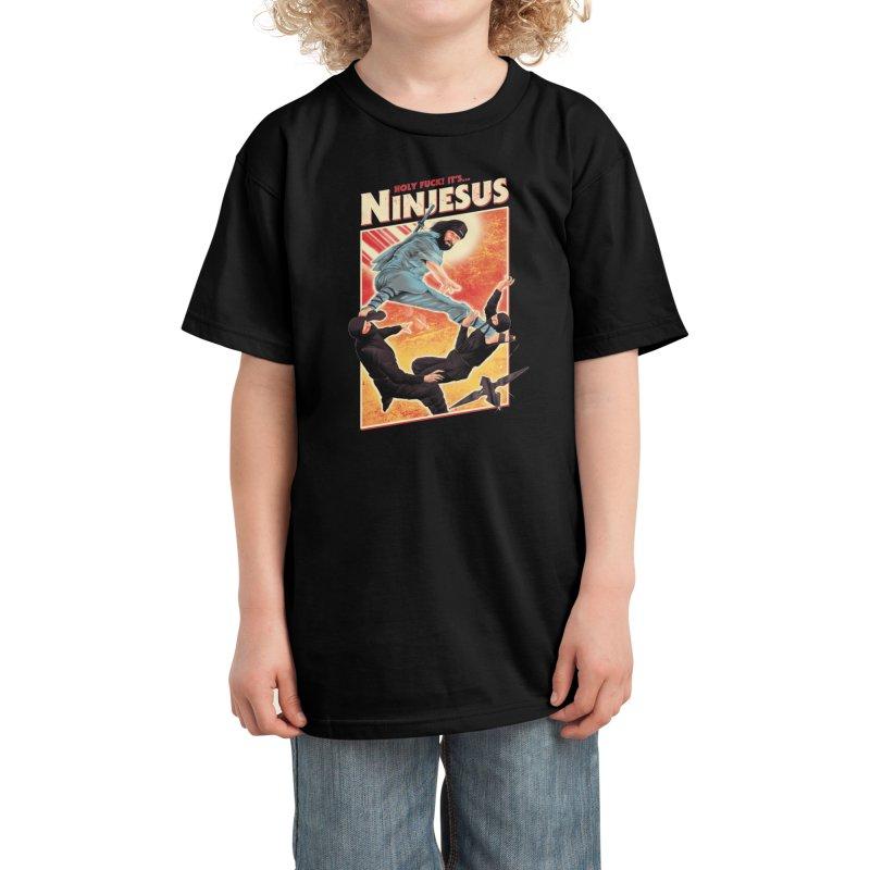 Ninjesus Kids T-Shirt by Threadless Artist Shop