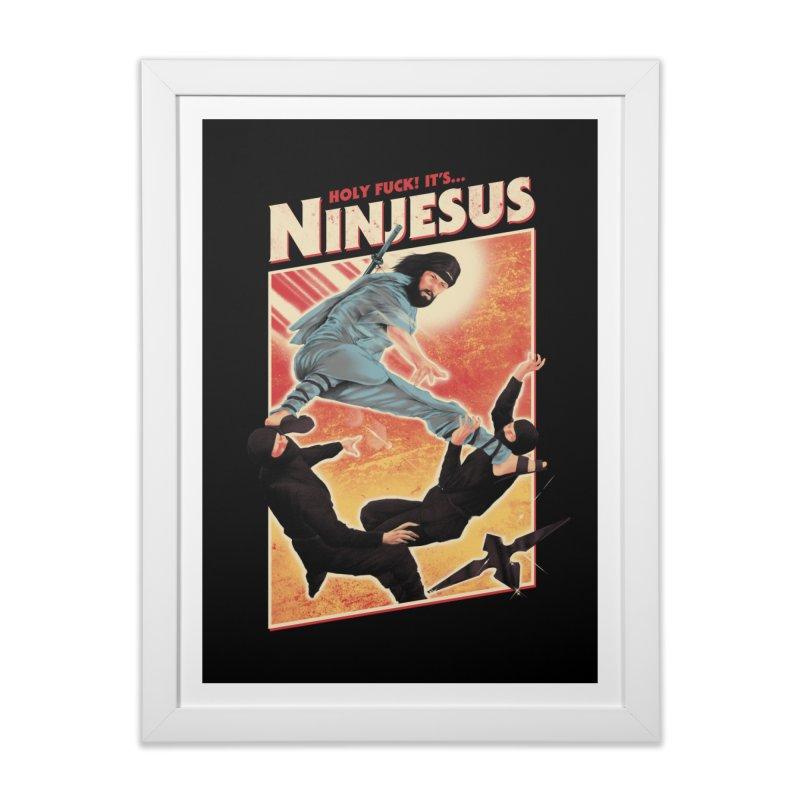 Ninjesus Home Framed Fine Art Print by Threadless Artist Shop