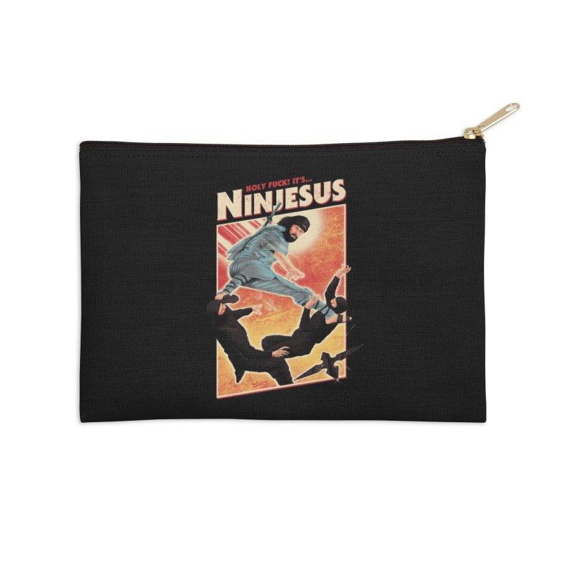 Ninjesus Accessories Zip Pouch by Threadless Artist Shop