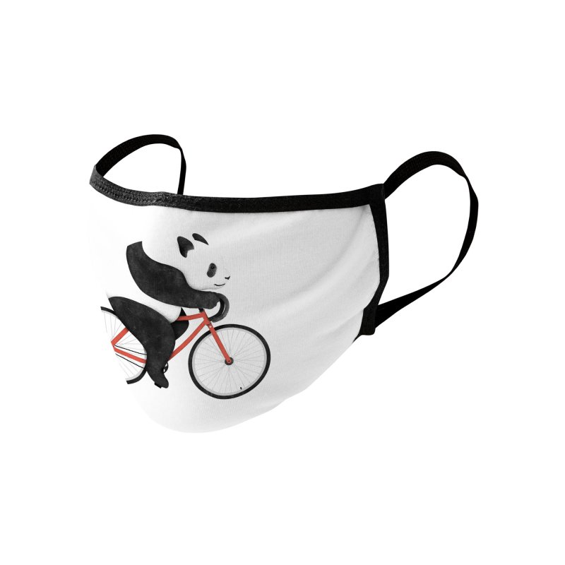 Panda Fixie Accessories Face Mask by Threadless Artist Shop