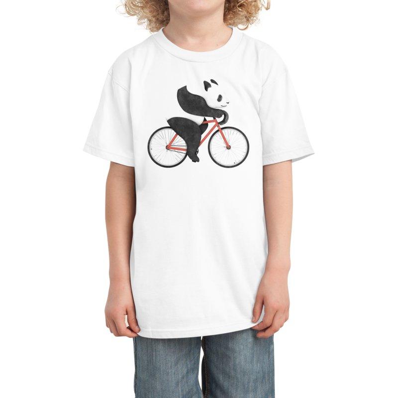 Panda Fixie Kids T-Shirt by Threadless Artist Shop