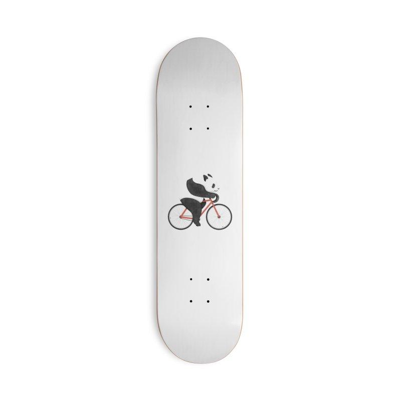 Panda Fixie Accessories Skateboard by Threadless Artist Shop