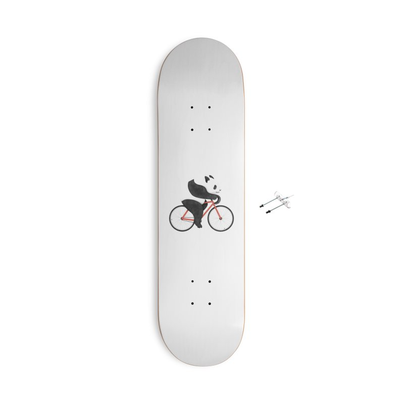 Panda Fixie Accessories Skateboard by Threadless Artist Shop