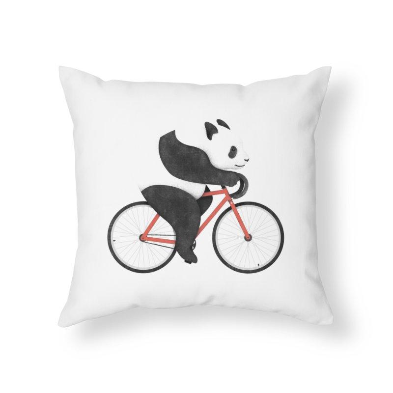 Panda Fixie Home Throw Pillow by Threadless Artist Shop