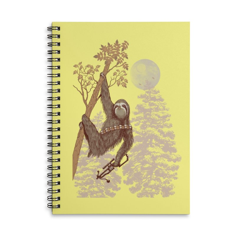 Sloth Wars Accessories Notebook by Threadless Artist Shop