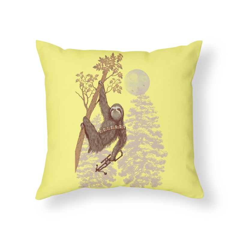 Sloth Wars Home Throw Pillow by Threadless Artist Shop