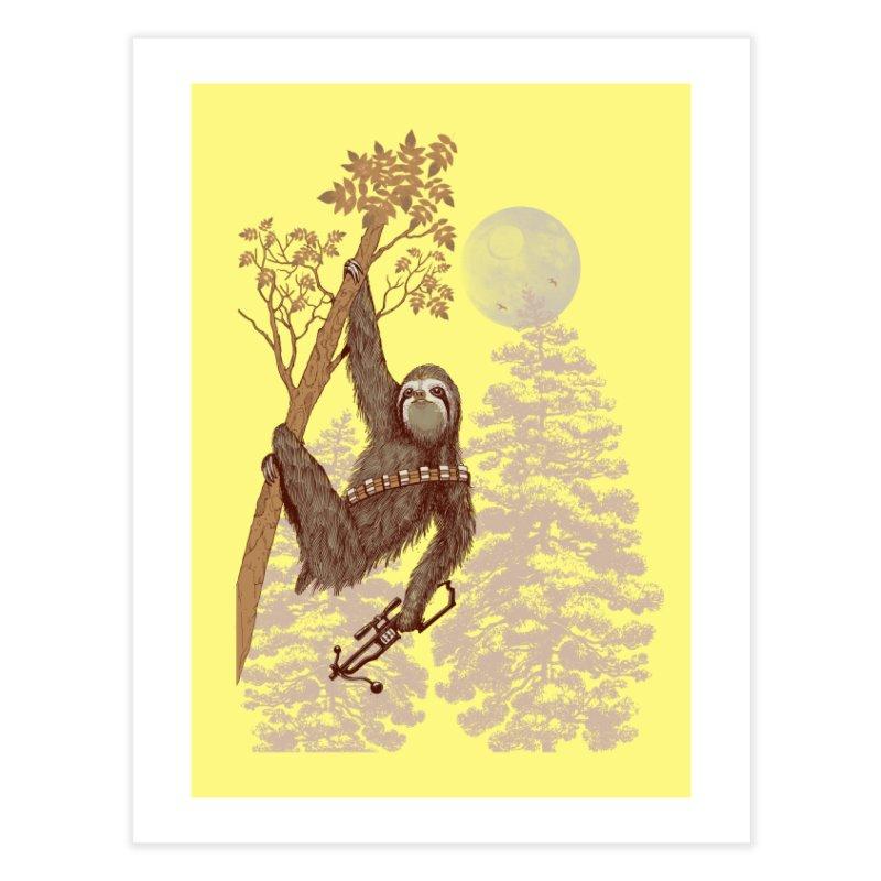 Sloth Wars Home Fine Art Print by Threadless Artist Shop