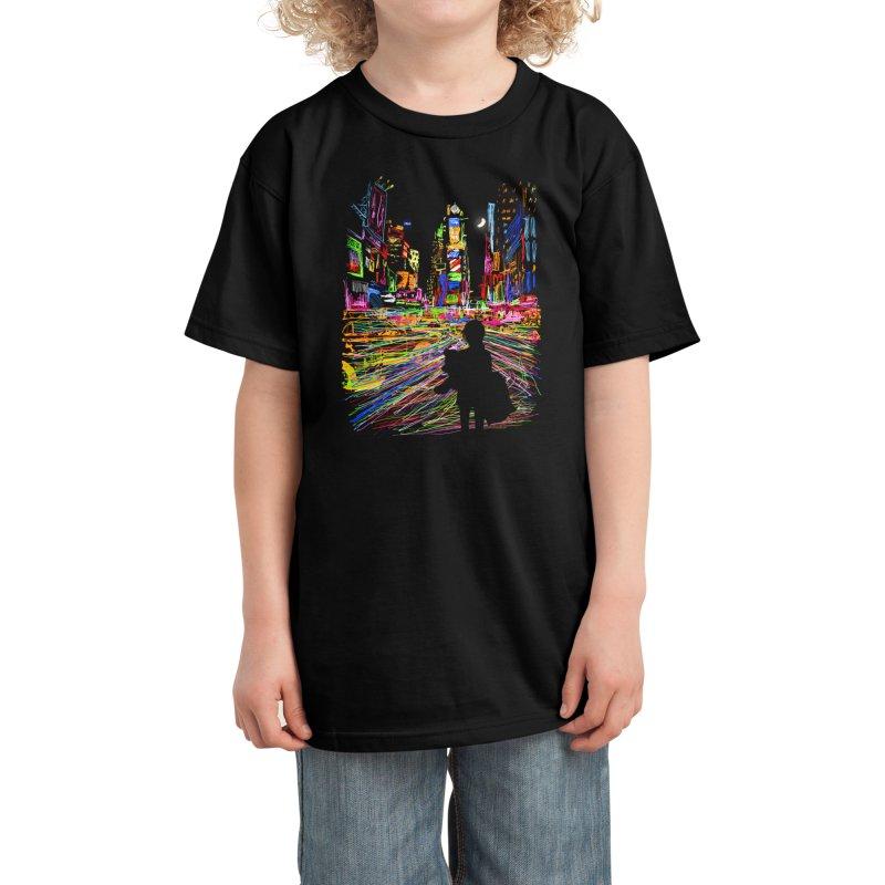 The City That Never Sleeps Kids T-Shirt by Threadless Artist Shop