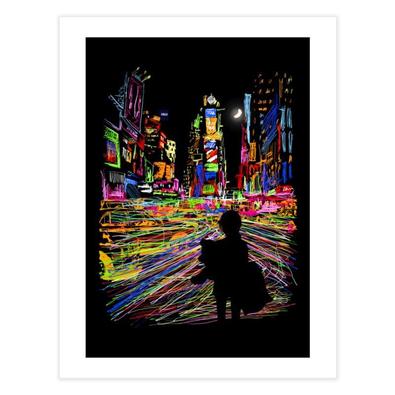 The City That Never Sleeps Home Fine Art Print by Threadless Artist Shop