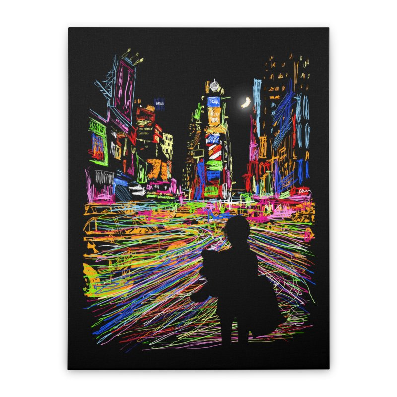 The City That Never Sleeps Home Stretched Canvas by Threadless Artist Shop