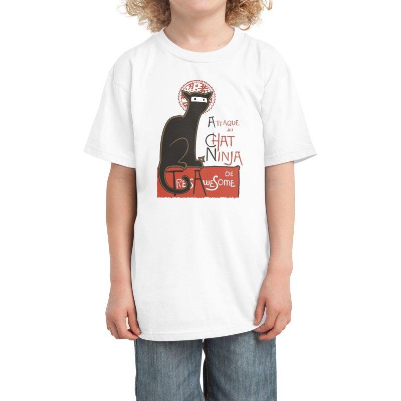 A French Ninja Cat! Kids T-Shirt by Threadless Artist Shop
