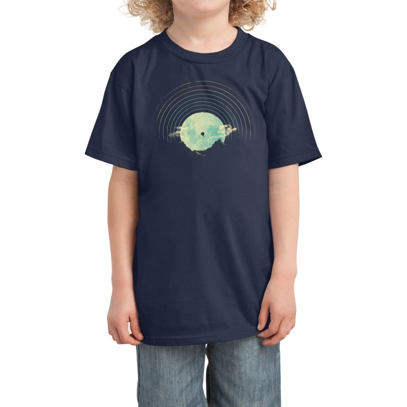 Soundtrack to a Peaceful Night Kids T-Shirt by Threadless Artist Shop