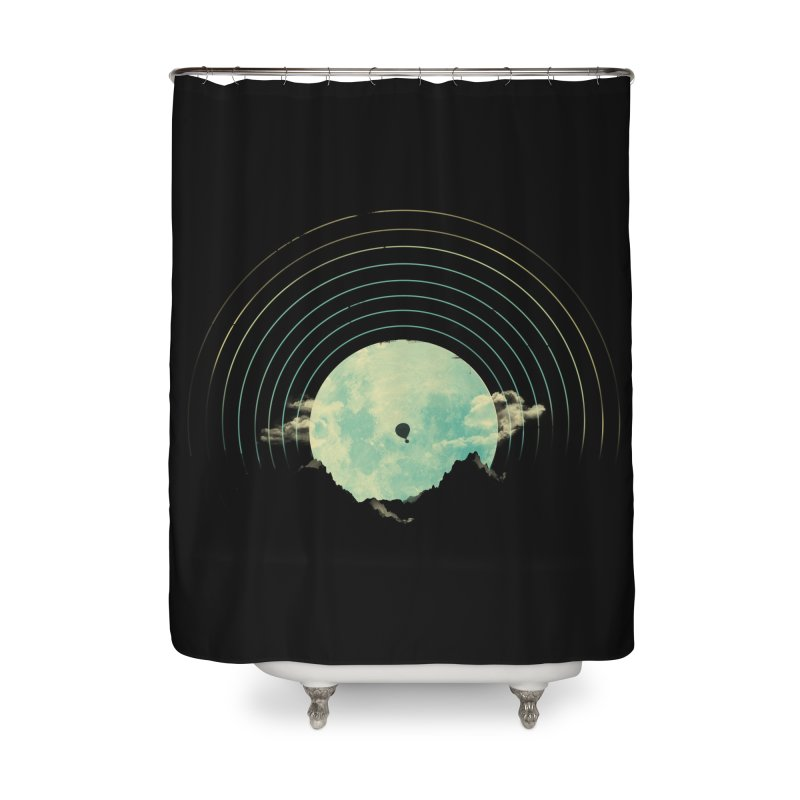 Soundtrack to a Peaceful Night Home Shower Curtain by Threadless Artist Shop