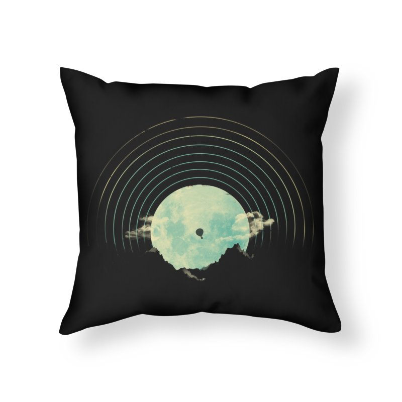 Soundtrack to a Peaceful Night Home Throw Pillow by Threadless Artist Shop