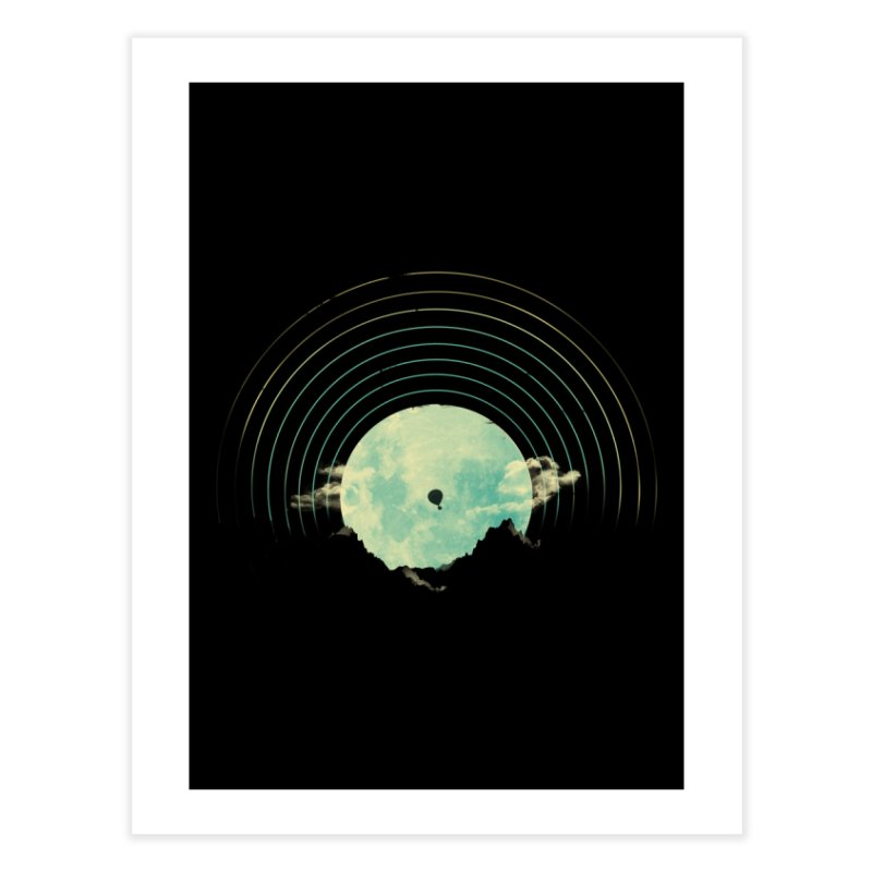 Soundtrack to a Peaceful Night Home Fine Art Print by Threadless Artist Shop