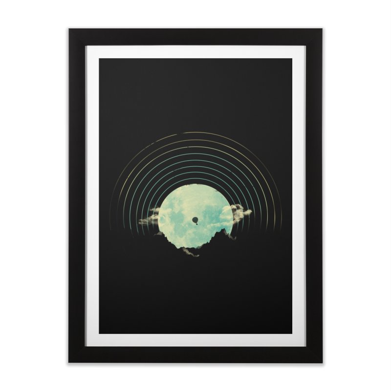 Soundtrack to a Peaceful Night Home Framed Fine Art Print by Threadless Artist Shop
