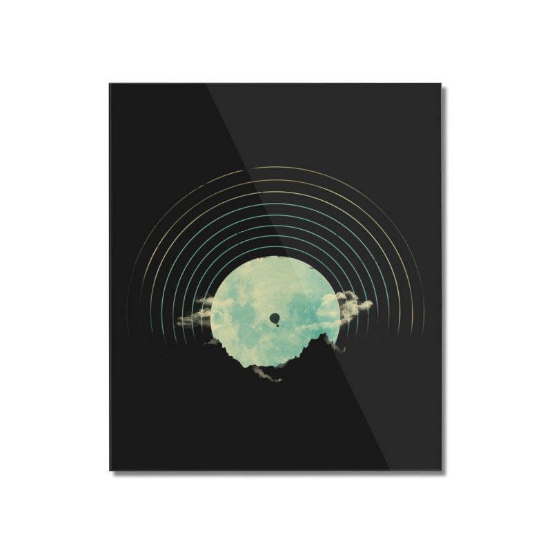Soundtrack to a Peaceful Night Home Mounted Acrylic Print by Threadless Artist Shop