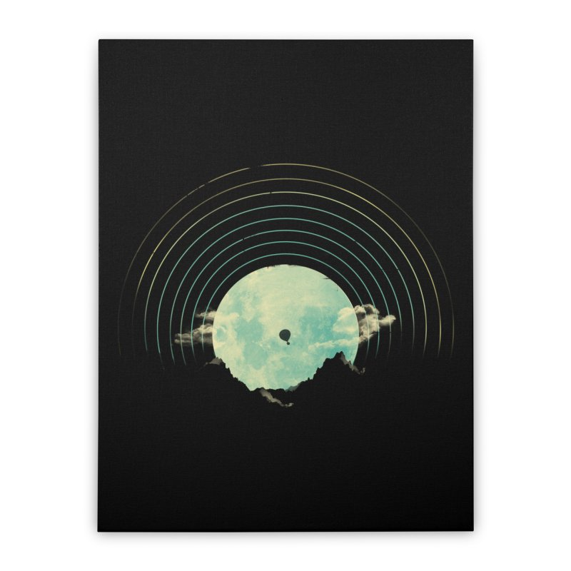 Soundtrack to a Peaceful Night Home Stretched Canvas by Threadless Artist Shop