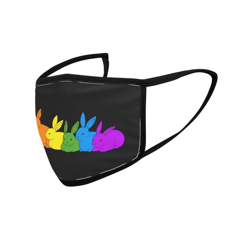 love is for everybunny Accessories Face Mask by Threadless Artist Shop