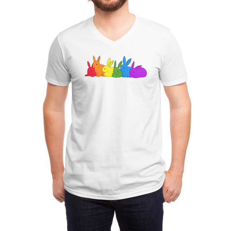 love is for everybunny Men's V-Neck by Threadless Artist Shop