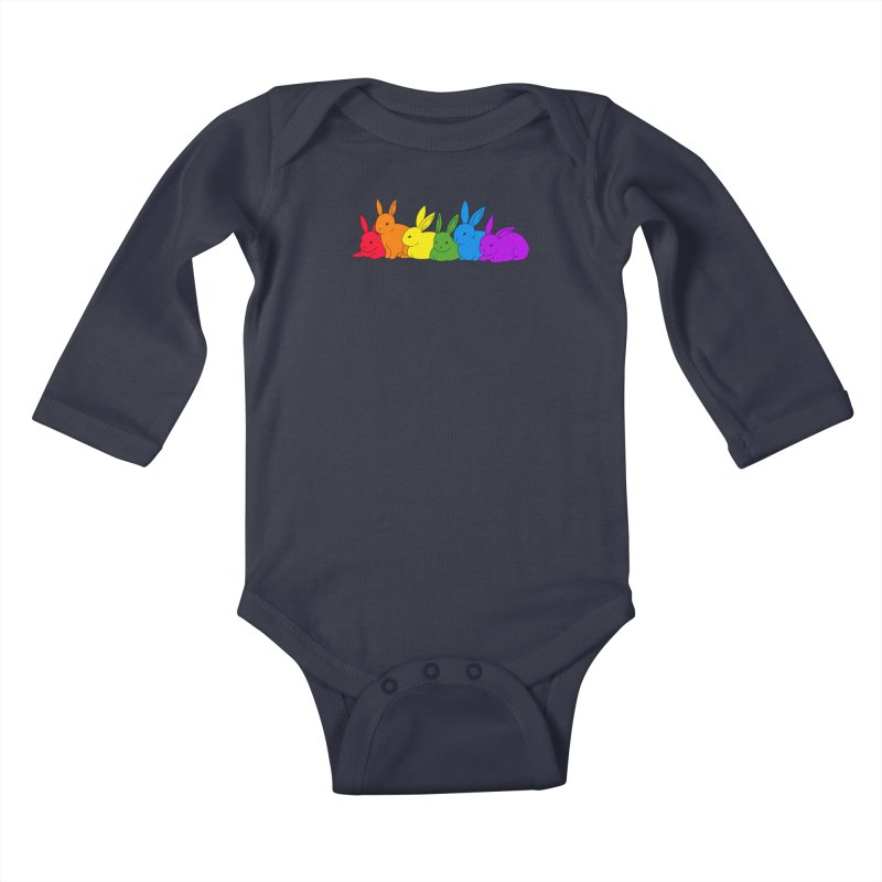 love is for everybunny Kids Baby Longsleeve Bodysuit by Threadless Artist Shop