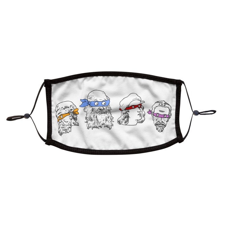Heroes In An Art Shell Accessories Face Mask by Threadless Artist Shop