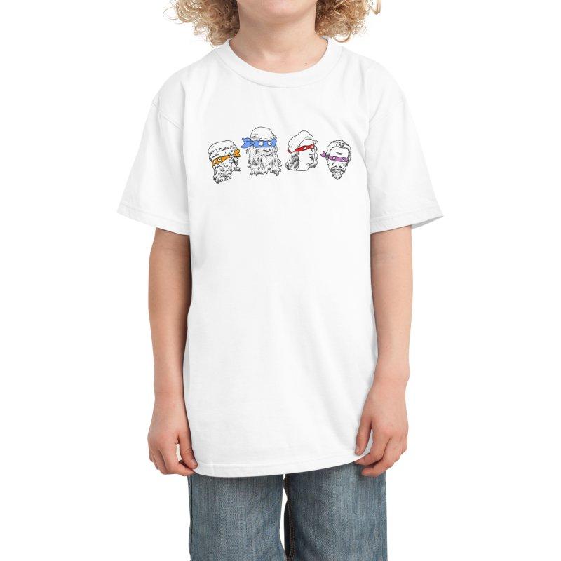 Heroes In An Art Shell Kids T-Shirt by Threadless Artist Shop