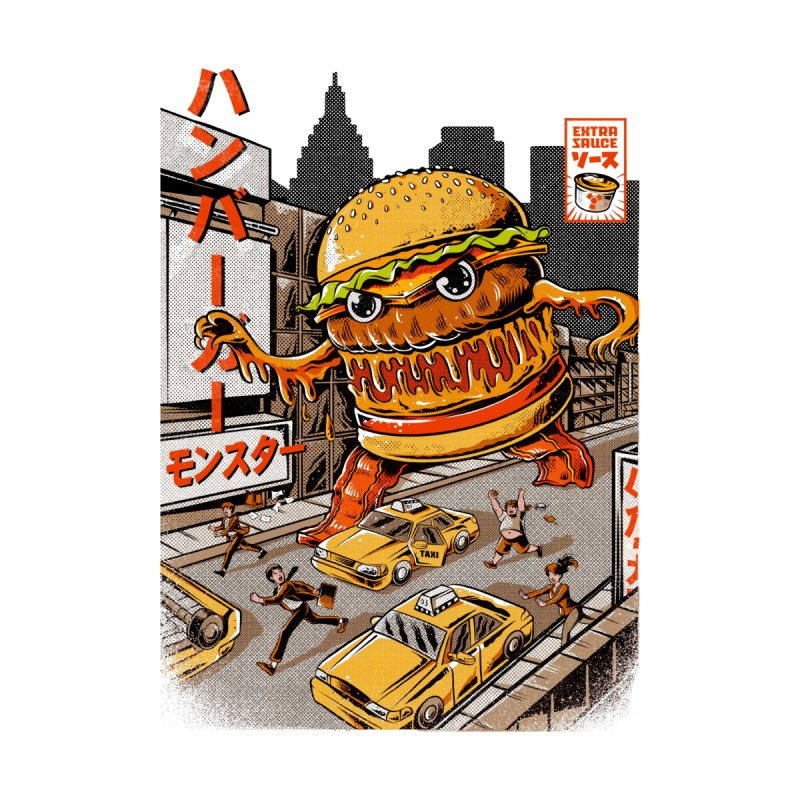 BurgerZilla Kids T-Shirt by Threadless Artist Shop
