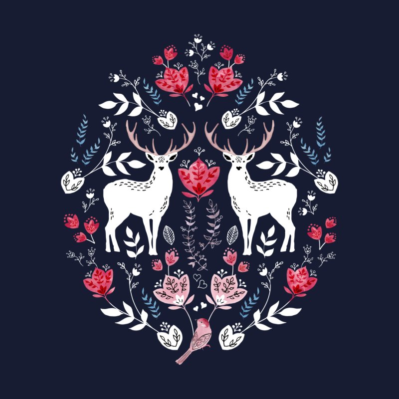 Scandinavian Deer Home Fine Art Print by Threadless Artist Shop