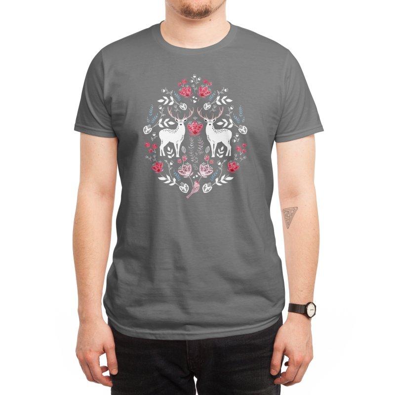 Scandinavian Deer Men's T-Shirt by Threadless Artist Shop