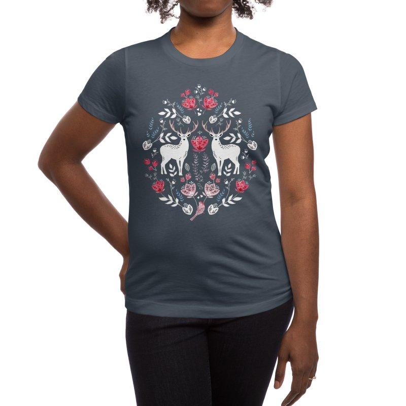 Scandinavian Deer Women's T-Shirt by Threadless Artist Shop