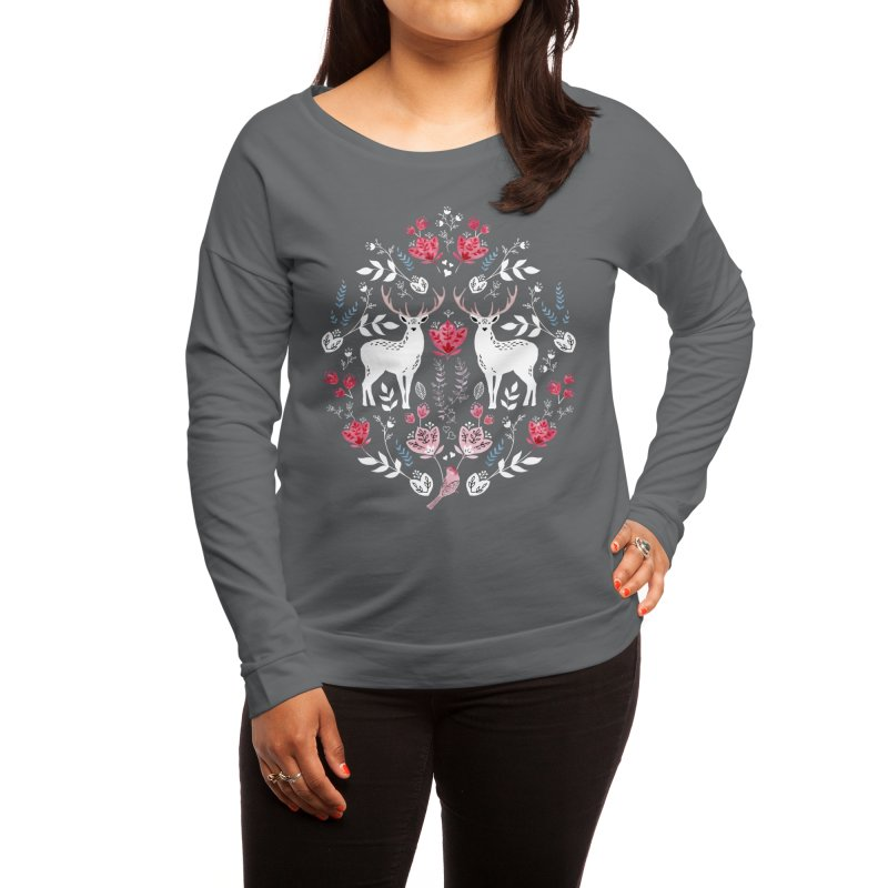 Scandinavian Deer Women's Longsleeve T-Shirt by Threadless Artist Shop