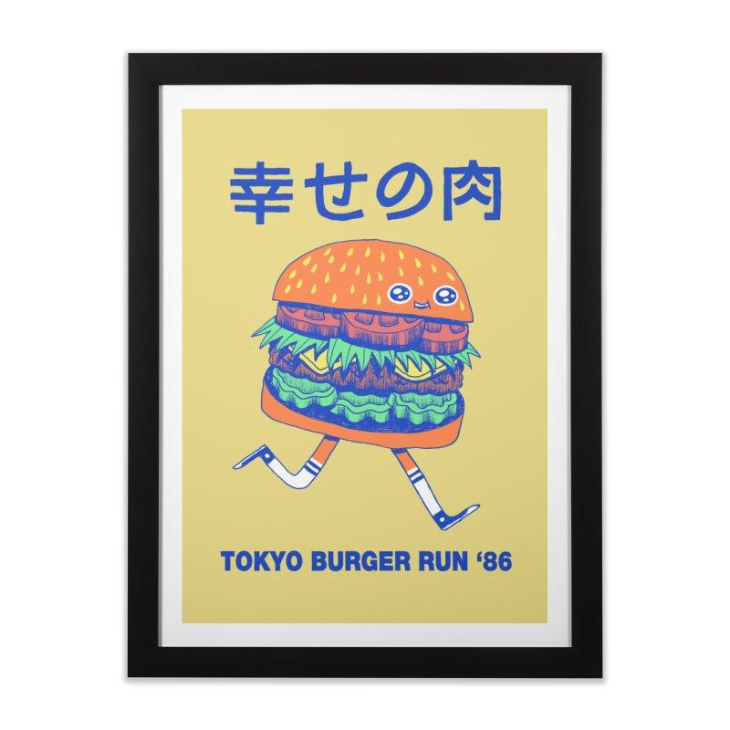 Burgerman Home Framed Fine Art Print by Threadless Artist Shop