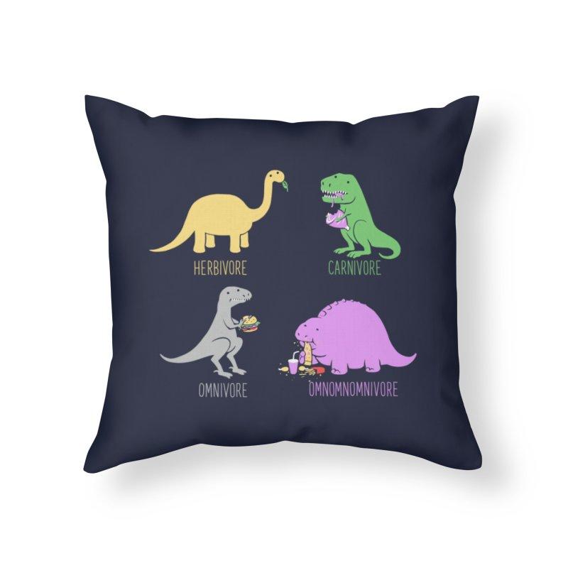 Omnomnomnivore Home Throw Pillow by Threadless Artist Shop