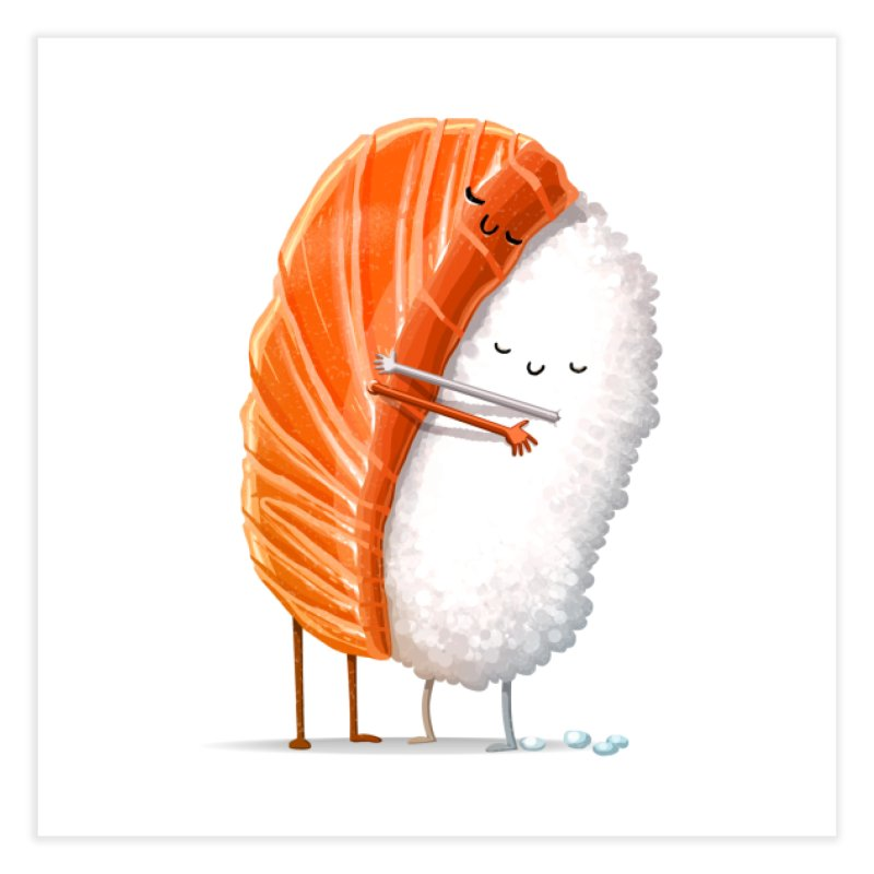 Sushi Hug Home Fine Art Print by Threadless Artist Shop
