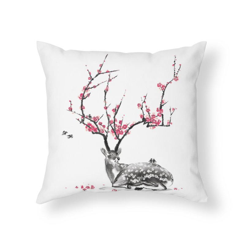 Blooming Home Throw Pillow by Threadless Artist Shop