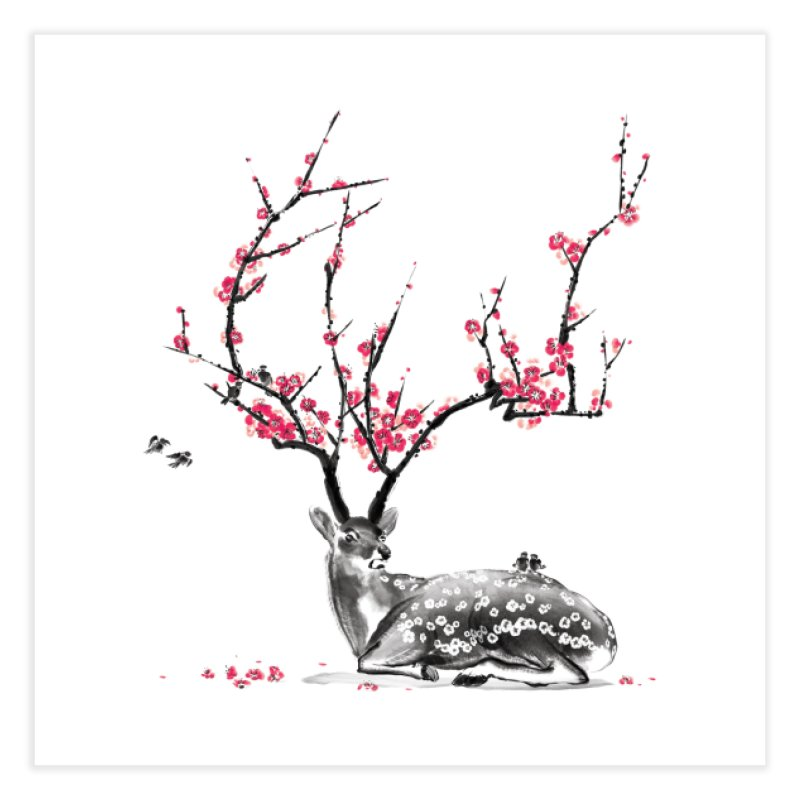 Blooming Home Fine Art Print by Threadless Artist Shop