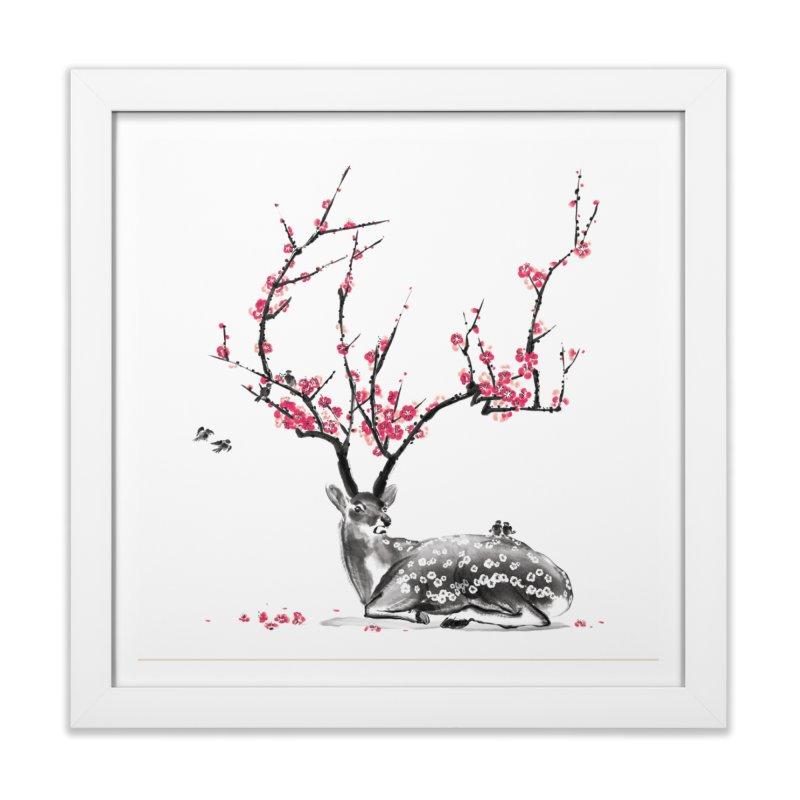 Blooming Home Framed Fine Art Print by Threadless Artist Shop