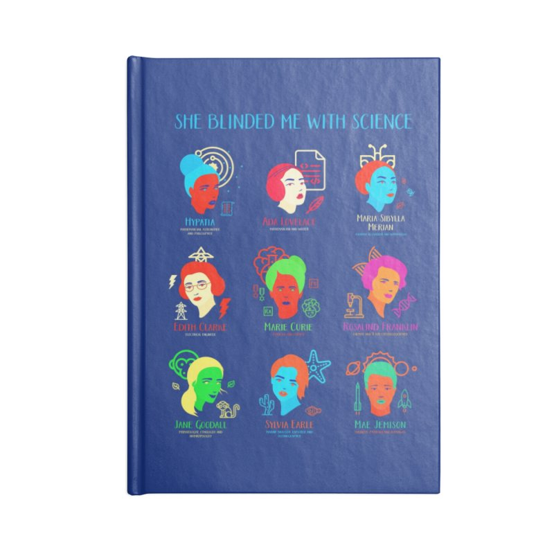 She Blinded Me with Science Accessories Notebook by Threadless Artist Shop