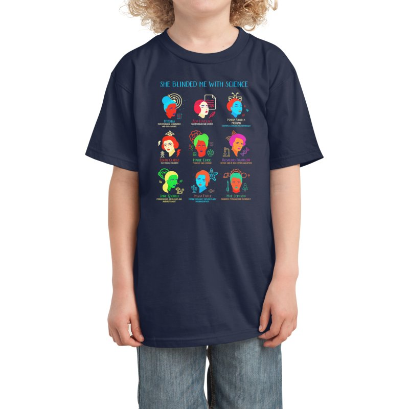 She Blinded Me with Science Kids T-Shirt by Threadless Artist Shop