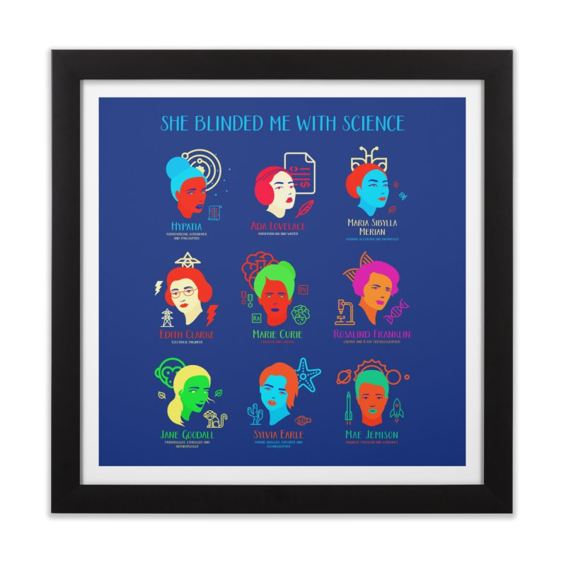 She Blinded Me with Science Home Framed Fine Art Print by Threadless Artist Shop