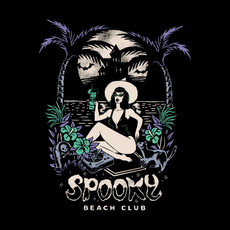 Spooky Beach Men's Zip-Up Hoody by Threadless Artist Shop