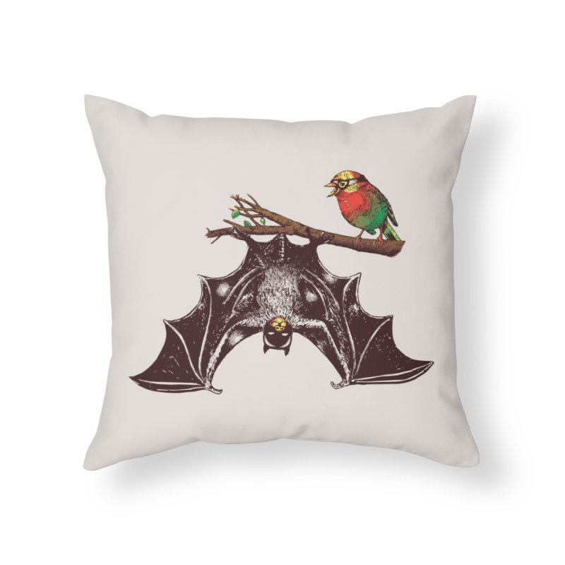 Bat & Rob Home Throw Pillow by Threadless Artist Shop