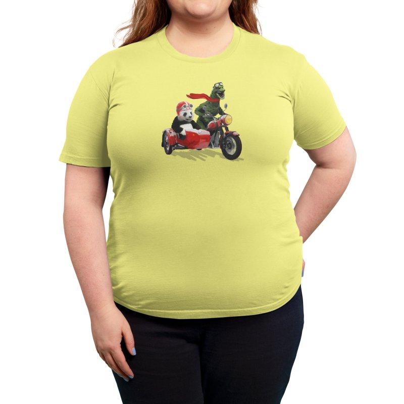 Godzilla and Panda Women's T-Shirt by Threadless Artist Shop
