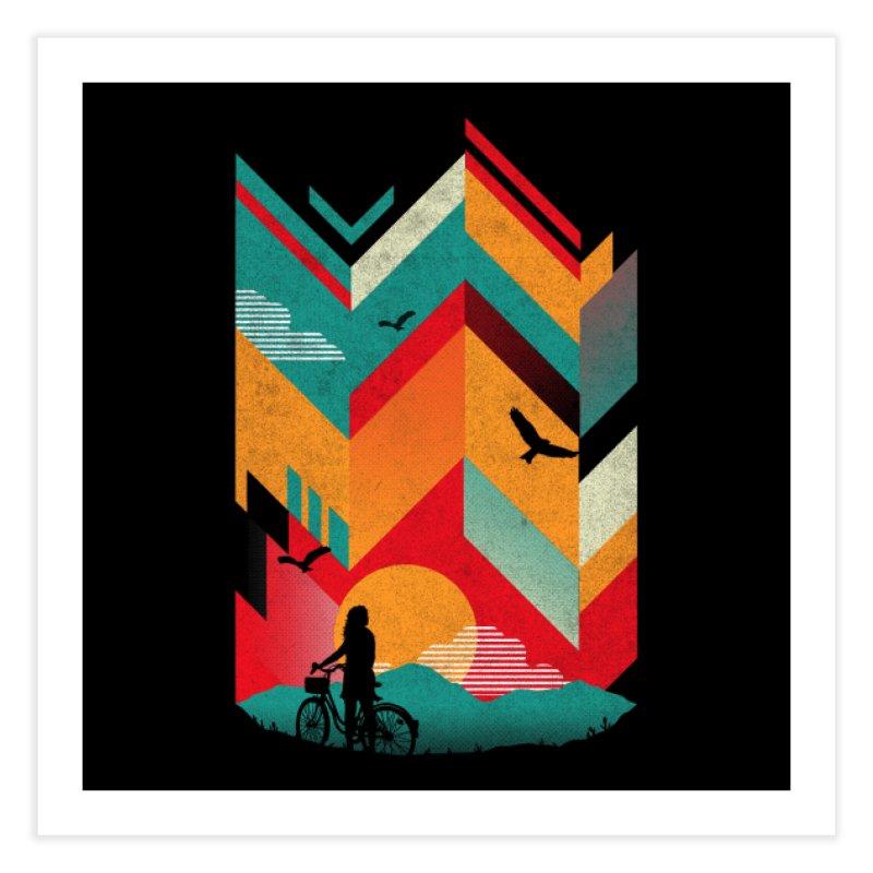 Bike Ride Home Fine Art Print by Threadless Artist Shop