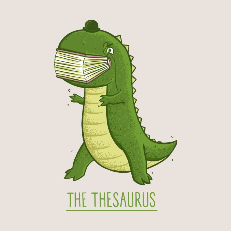 The Thesaurus Home Mounted Aluminum Print by Threadless Artist Shop