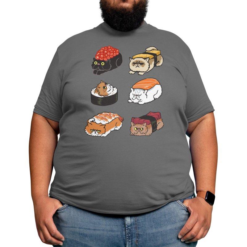 Sushi Persian Cat Men's T-Shirt by Threadless Artist Shop