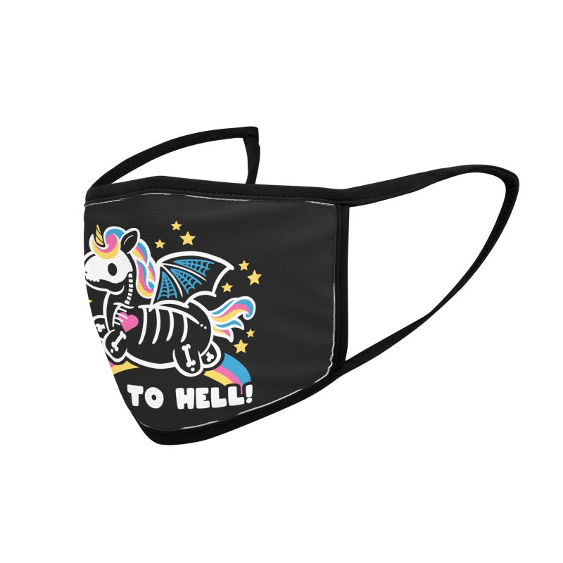 Skeleton Unicorn Accessories Face Mask by Threadless Artist Shop