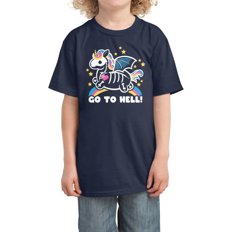 Skeleton Unicorn Kids T-Shirt by Threadless Artist Shop