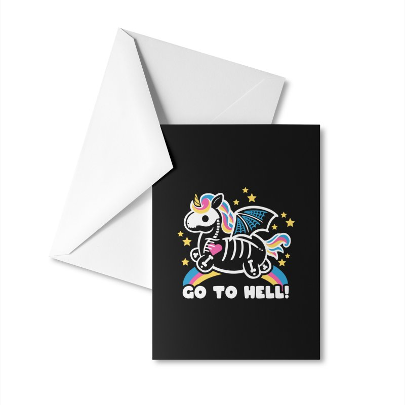 Skeleton Unicorn Accessories Greeting Card by Threadless Artist Shop